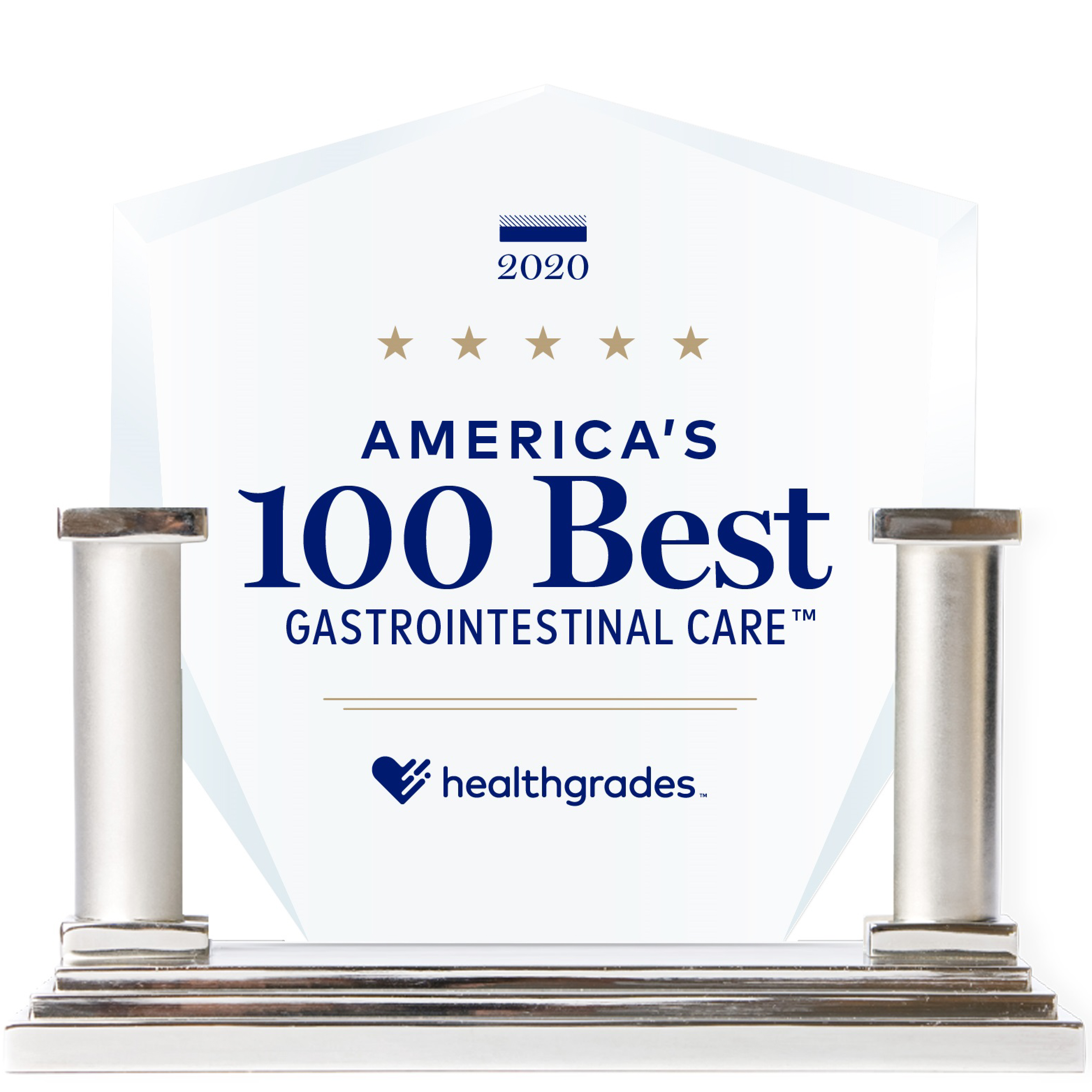 Americas 100 Best Gastrointestinal Care Trophy 2020