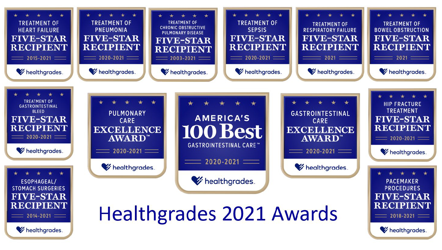 Southern California Hospital at Hollywood Named One of America's 100 Best Hospitals for Gastrointestinal Care and Receives 11 Additional National Clinical Awards